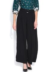 Vero Moda Black Pleated Palazzo Trousers