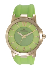 Dsigner Women Green Dial Watch 636GFS