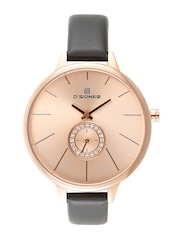 Dsigner Women Rose Gold-Toned Dial Watch 657RGL