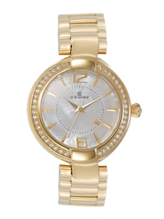 Dsigner Women Pearly White Dial Watch 483GM