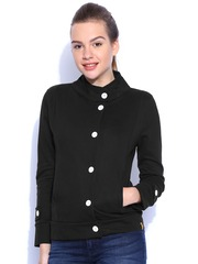 Campus Sutra Black Jacket