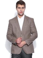 Theme Grey Linen Slim Blazer