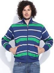 Duke Blue & Green Striped Sweatshirt