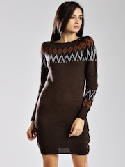 GAS Women Brown Kaily Sweater Dress