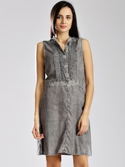 GAS Charcoal Grey Ramita A-line Dress