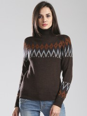 GAS Brown Kaily Woollen Sweater