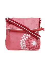 Anouk Coral Pink Printed Sling Bag
