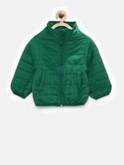 United Colors of Benetton Boys Green Padded Jacket