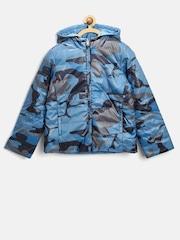 United Colors of Benetton Girls Blue Reversible Jacket