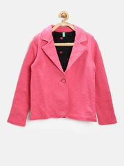United Colors of Benetton Girls Pink Blazer