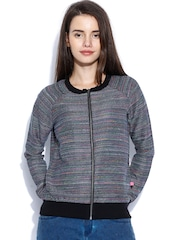 United Colors of Benetton Multicoloured Textured Jacket