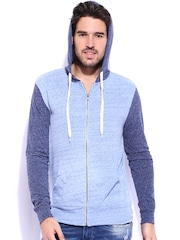 Fox Blue Melange Hooded Sweatshirt