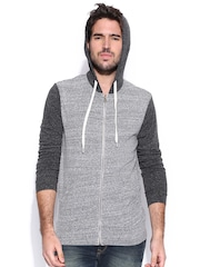 Fox Grey Melange Hooded Sweatshirt