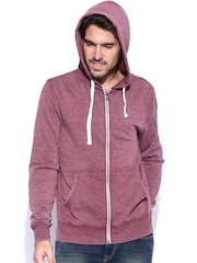 Fox Burgundy Melange Hooded Sweatshirt