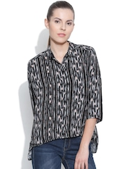 Vero Moda Black & Grey Printed Shirt