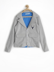 Allen Solly Junior Boys Grey Casual Blazer