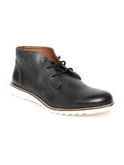 Arden by Knotty Derby Men Black Textured Casual Shoes