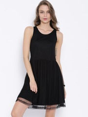Flying Machine Black Fit & Flare Dress