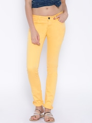 Flying Machine Yellow Super-Skinny Fit Trousers