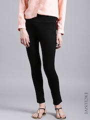 ETHER Black Four-Way Stretch Trousers