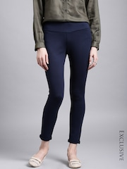 ETHER Navy Four-Way Stretch Trousers