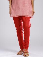 Fabindia Red Silk Churidar