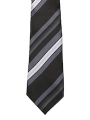 Tossido Black & Grey Striped Tie