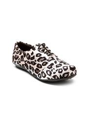 Marc Loire Women White Animal Print Casual Shoes