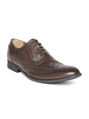 Hush Puppies by Bata Men Coffee Brown Leather Brogues