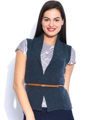 U.S. Polo Assn. Women Blue Woollen Shrug