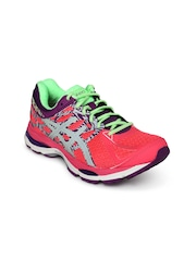 ASICS Women Coral Pink & Purple Gel-Cumulus 17 Lite Show Running Shoes