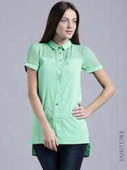 ETHER Green Long Tops