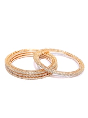 Sukkhi Set of 4 Gold-Plated Bangles