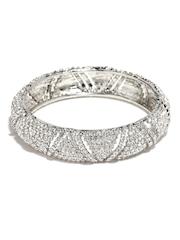 Sukkhi Silver-Toned Rhodium-Plated Australian Diamond-Studded Bangle