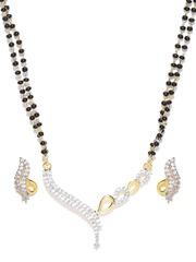 Sukkhi Black Gold-Plated Stone-Studded Jwellery Set