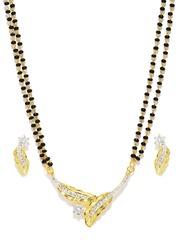 Sukkhi Black Gold-Plated Mangalsutra Set