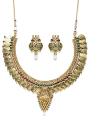 Sukkhi Gold-Plated Stone-Studded Jewellery Set