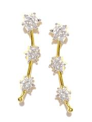 Sukkhi Set of 2 Gold-Plated CZ Stone-Studded Ear Cuffs