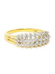 Sukkhi Rhodium & Gold-Plated CZ Stone-Studded Ring