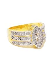 Sukkhi Gold & Rhodium-Plated CZ Stone-Studded Ring