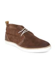 Levis Men Dark Brown Suede Casual Shoes