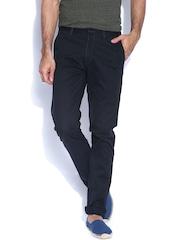 IZOD Black Martin Slim Fit Casual Trousers