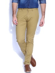 IZOD Khaki Martin Slim Fit Casual Trousers