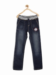 Tommy Hilfiger Boys Blue Washed Straight Fit Jeans