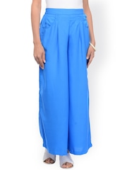 Ruhaans Blue Palazzo Trousers