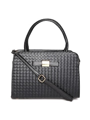 Lino Perros Black Basket Weave Patterned Handbag