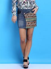 Desigual Blue Mini Denim Skirt
