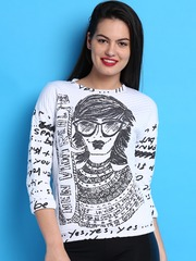 Desigual White Sweatshirt