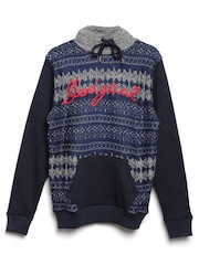 Desigual Men Navy Hooded Sweatshirt