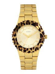 GUESS Women Gold-Toned Dial Watch W0404L1